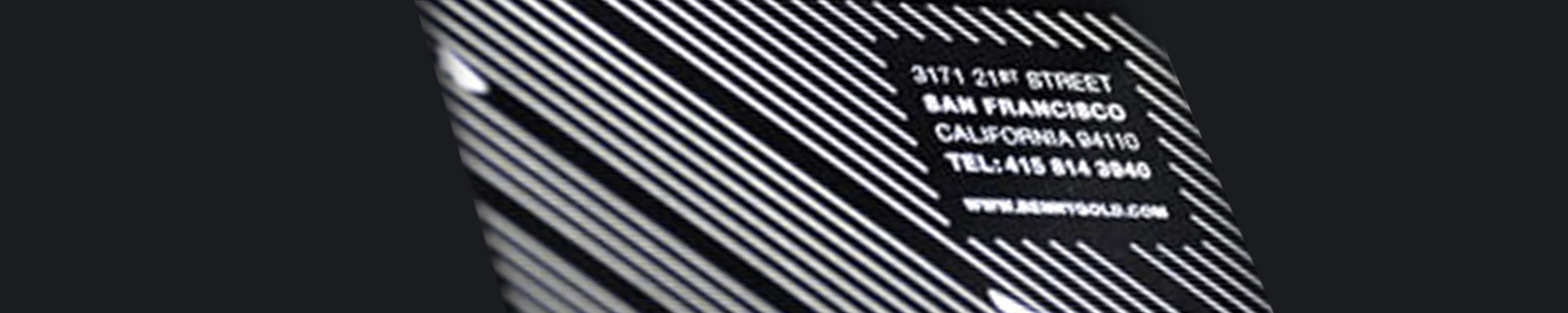 Screen Printed Business Cards — Light on Dark
