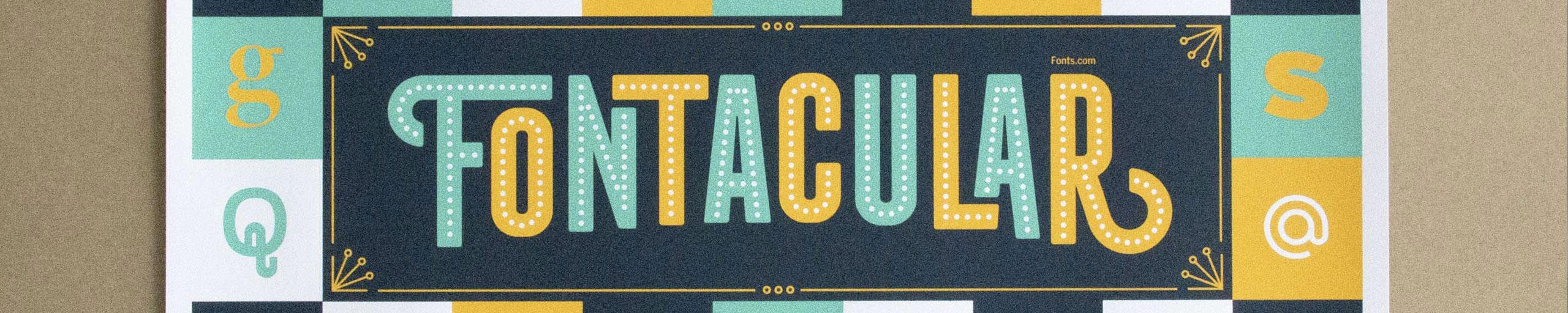 The Fonts.com Fontacular Poster