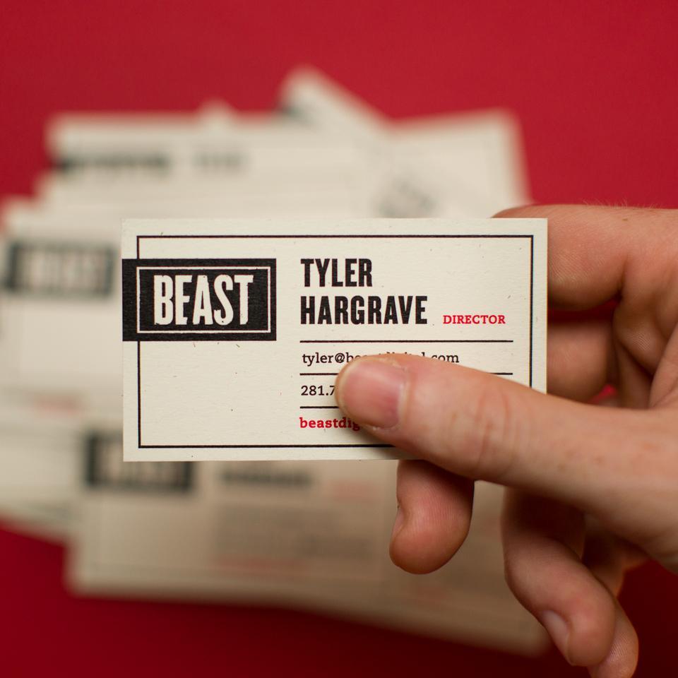 Beast Business Cards