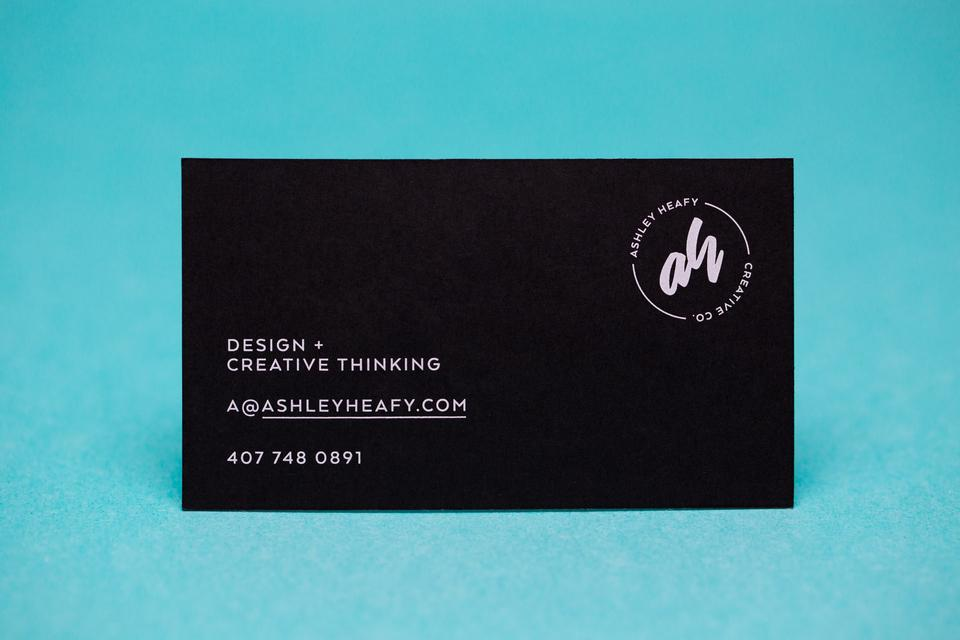 Ashley Heafy Business Card