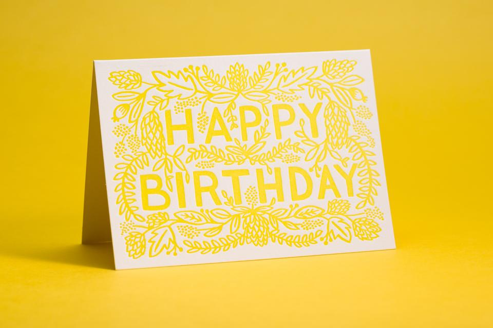 Rifle Paper Co Happy Birthday Greeting Card Mamas Sauce