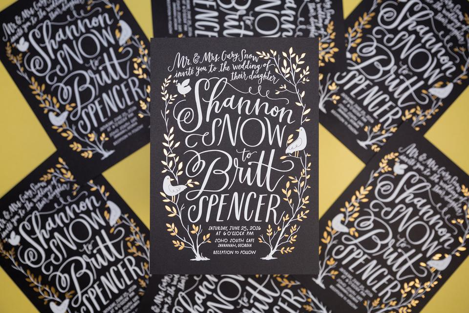 Shannon Snow Wedding Invites