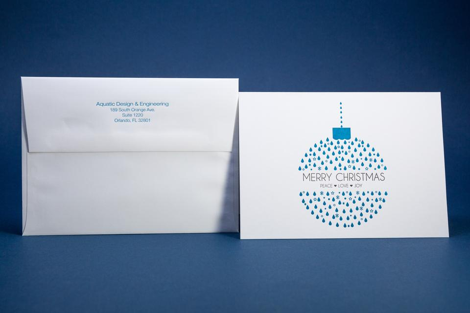 Aquatic Design & Engineering Christmas Cards and Envelopes •
