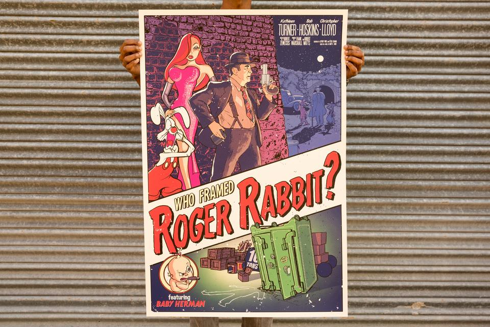 Tim Anderson Who Framed Roger Rabbit Poster
