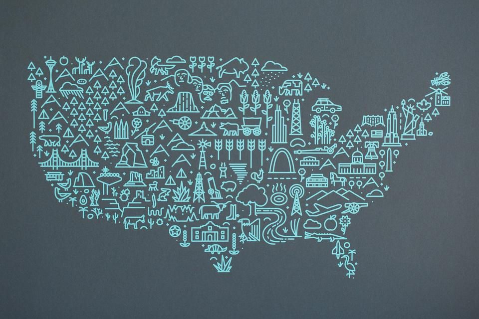 Map of America Poster