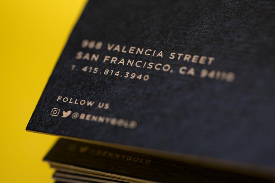 Benny Gold Business Cards
