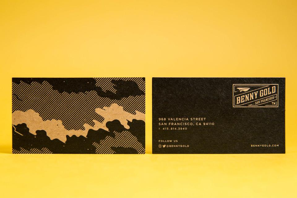 Benny Gold Business Cards • Mama\'s Sauce