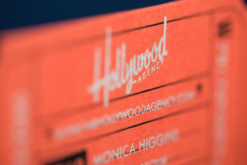 Hollywood Agency's Business Cards