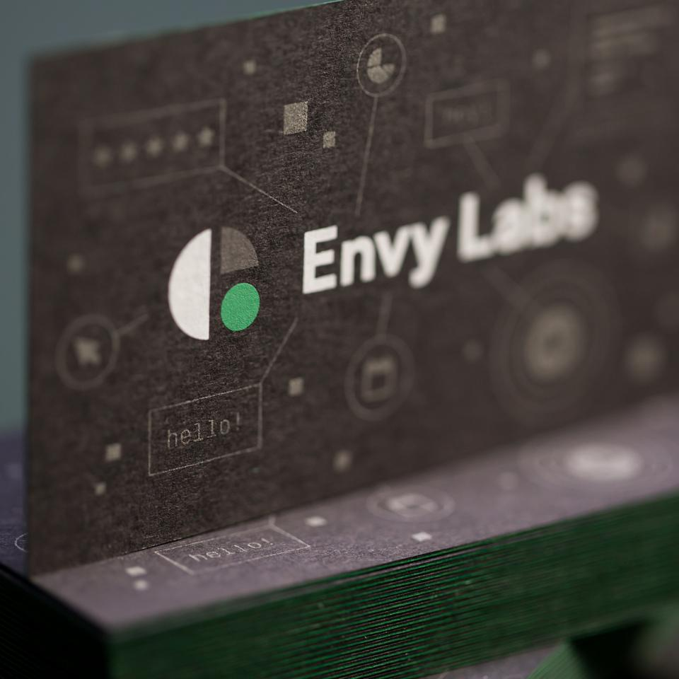 Envy Labs' Glow in the Dark Business Cards