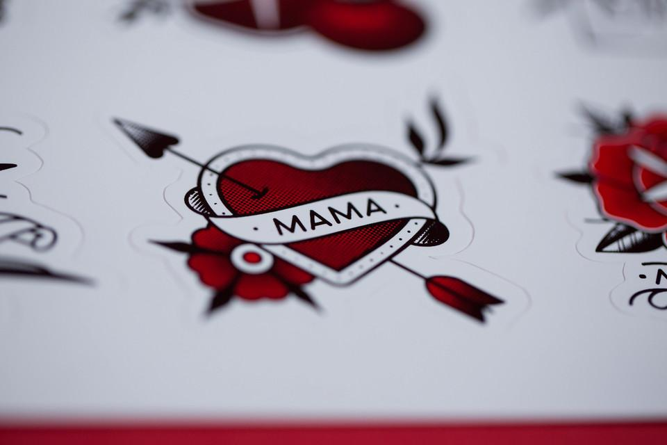 Mama's Mom Mum Mother Kiss Cut Sticker Sheet