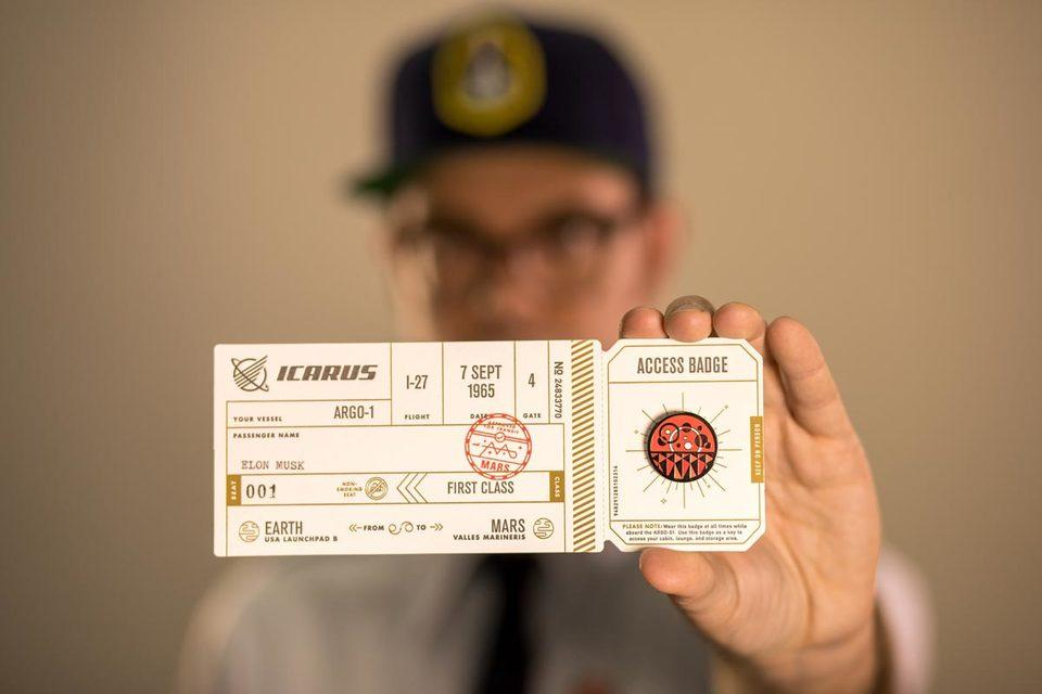 Familytree's Icarus Mars Ticket Pin Backer