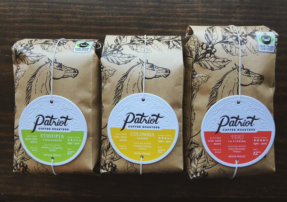 Patriot Coffee Roaster's Bag Tags