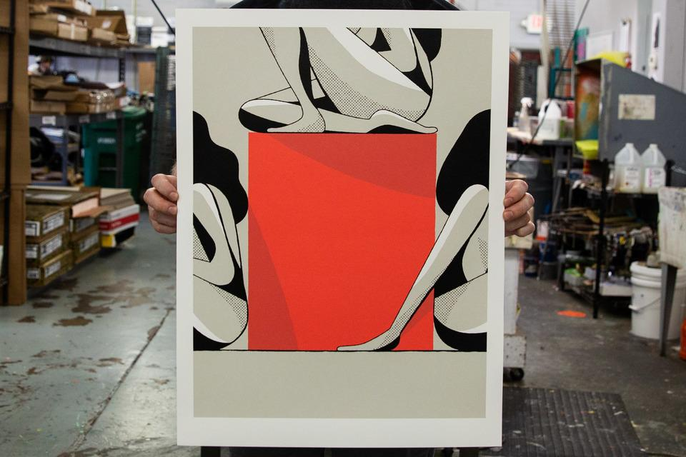 Chris Delorenzo's Nude's with Shapes Art Prints
